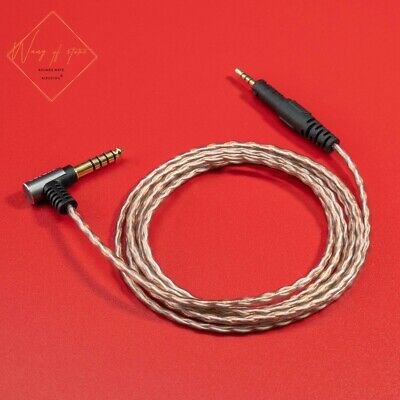 6N Hifi 4.4mm 2.5mm Cable For Audio Technica ATH M50x M40x M70x M60X Headphone • 22.50£