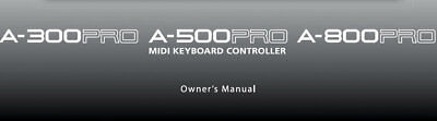 Roland A-300pro Owner's Manual In English A-500pro A-800pro Keyboard Controller • 19.99£