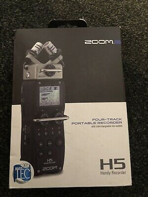 Zoom Four Track Portable Recorder H5 With Interchangeable Mic System • 225£
