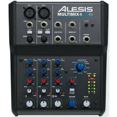 Alesis Multimix 4 USB FX Effects Mixer 4-Channel Mixing Desk With USB Interface • 99£