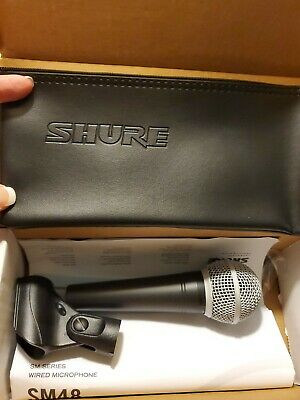 Shure SM48-LC Vocal Dynamic Microphone, Cardioid • 32.75£