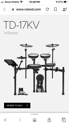 Roland Td-17KV W/TD-50 Module, X-tra CY-8 And Roland Drum Mat UNBOXED • 731.45£