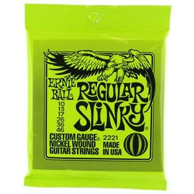Ernie Ball 2221 Package Strings For Electric Guitar Gauge 10-46 Regular Slinky • 14.07£