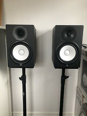 Yamaha HS8 Active Studio Monitors (Black) With Original Boxes And Stands • 400£