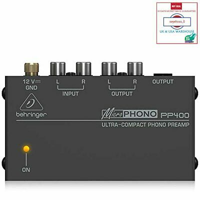 Behringer PP400 Microphono Ultra Compact Phono Preamp Assorted Colour • 29.93£