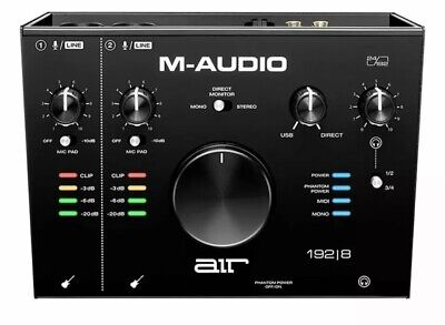 M-Audio AIR 192 8 4-In 4-Out 24/192kHz USB Audio MIDI Interface  • 99£