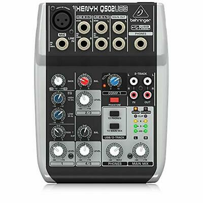 Premium 5 Input 2 Audio Bus Mixer With XENYX Mic Preamp/Compressor/British EQ • 67.99£