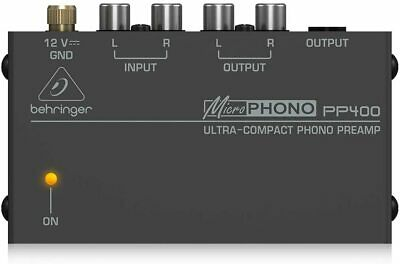 Behringer PP400 Microphono Ultra Compact Audio Phono Preamp Assorted Colour • 26.99£