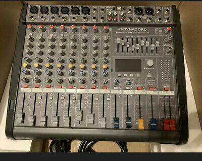 Dynacord PowerMate 600-3 8 Channel Powered Mixer Mixing Desk 2 X 1000W Effects • 1,400£