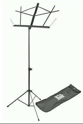 On-Stage SM7122BB Compact Sheet Music Stand Black With Carrying Bag Adjustable • 9.45£