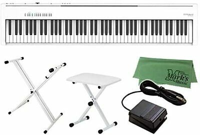Roland Digital Piano FP-30X White FP-30X-WH + Keyboard Stand + Chair + Marks Mu • 844.04£