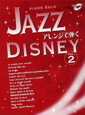 (USED) BEST OF Excellent Disney Sheet MUSIC Piano Solo Advanced Jazz Vol. 2 CD