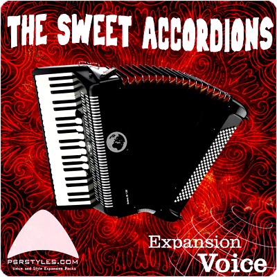 SWEET ACCORDIONS Expansion Pack For YAMAHA Genos Tyros 5 PSR SX-900 S-975 S-970 • 32.41£