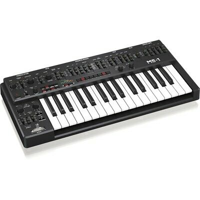Behringer MS-1 Analog Synthesizer Black Amazing Features Deep Sound Ready 2 GO