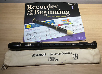 Yamaha Soprano YRS -24B Flute with A Behinners Music Book
