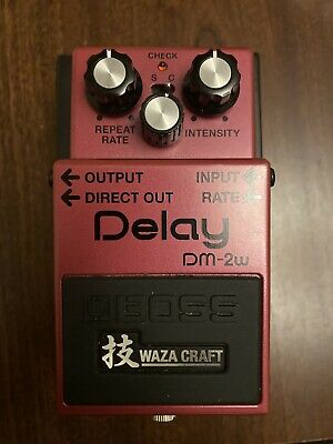 Boss Waza Craft DM2W Analog Delay Effects Pedal With Box