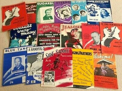 Vintage Sheet Music - assorted selection of 40s/50s - ideal for art project etc