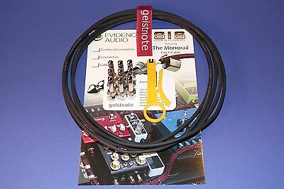 Pedal Board KIT 10 Plugs/10 ft EA BLACK Monorail and Straight or Right Angle SIS