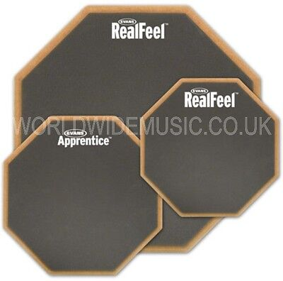 Evans Real Feel Drum Practice Pads With Choice 6  7  And 12  Sizes And Types • 40£