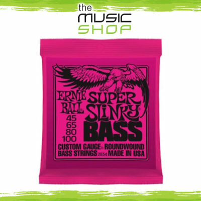 Set Ernie Ball 2834 Super Slinky Electric Bass Guitar Strings - 45-100 • 27.13£