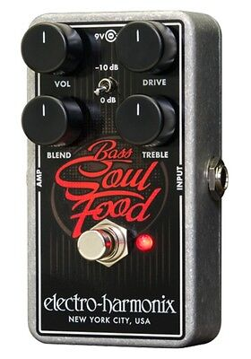 EHX Electro Harmonix Bass Soul Food Distortion / Overdrive / Boost Pedal • 85£