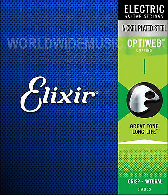 Elixir OPTIWEB Nickel Plated Electric Guitar Strings  -  With A Choice Of Gauge • 13£