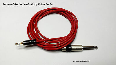 Summed Audio Lead For Korg Volca Series Synth Machines • 17.50£