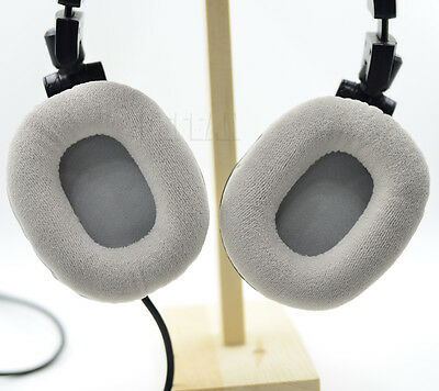 Gray Velour Cushion Ear Pads For Audio Technica ATH-M50 M50S M50X M40 M40S M40X • 10.80£