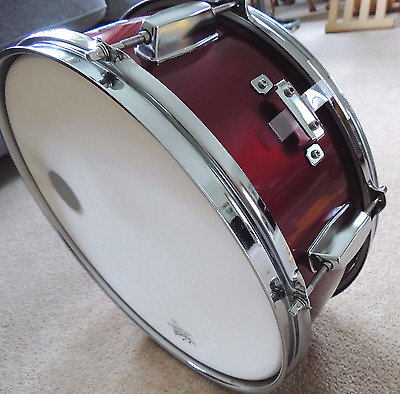 14  CB Wood Snare Drum With Remo Weatherking Coated Ambassador Head. Nearly NEW! • 55£