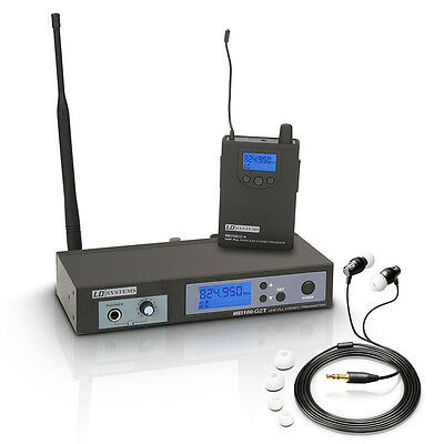 LD Systems MEI100 G2 IEM In Ear Monitoring System Inc Headphones & Rack Kit Band • 219£