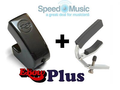 Ebow Electronic E-Bow Plus For Guitar Effects! Bundled With Lever Guitar Capo • 95£