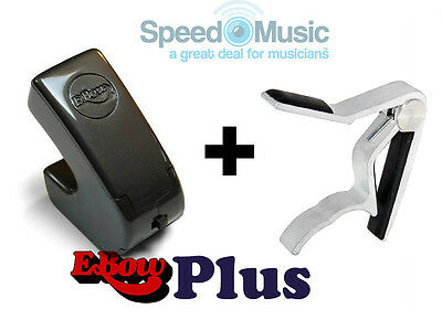 E-Bow Plus For Guitar Effects! (Ebow) Bundled With Lever Guitar-Spring Type Capo • 96.99£