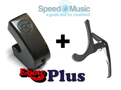 E-Bow Plus For Guitar Effects! (Ebow) Bundled With Squeeze Type Guitar Capo • 98£