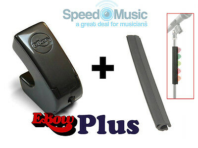 E-Bow Plus For Electric Guitar! + Pick-Strip Holder (fits On Microphone Stands) • 94.99£