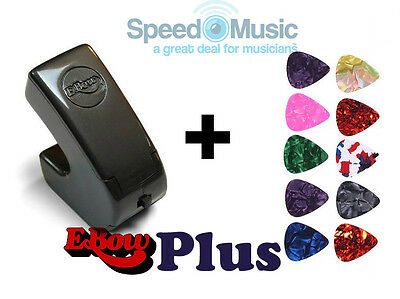 E-Bow Plus For Electric Guitar - Bundled With 10 Guitar Plectrums (various) • 94£