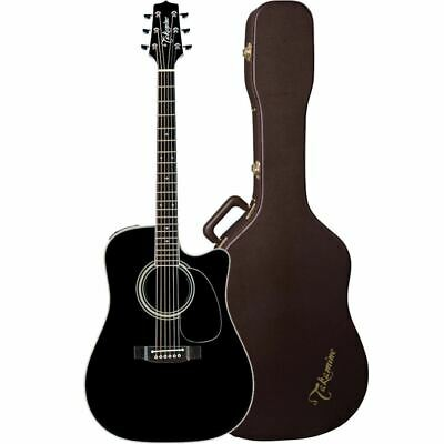 New Takamine EF341SC Dreadnought Acoustic Electric Guitar With Hard Case, Black • 1,145.51£
