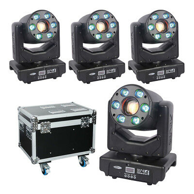 4x Showtec Shark Combi Spot One LED Moving Head Spot Wash Package • 1,449£