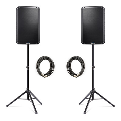 Alto TS315 4000W Active 15  DJ Disco PA Speakers (Pair) With FREE Stands & Cable • 610£