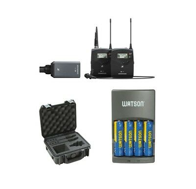Sennheiser ew 100 ENG G4-A Portable Wireless Mic with SKB Case and Battery Kit