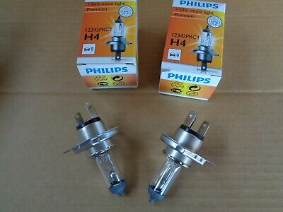New Genuine Philips H4 +30% Bulbs Pair Brighter Light 12v 60/55w  • 9.95£