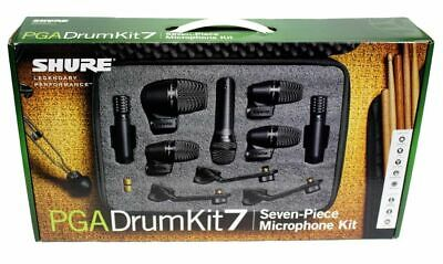 Shure PGA DRUM KIT 7 7 Piece Drum Microphone PGA Series Kit BRAND NEW Drum Kit • 368.26£