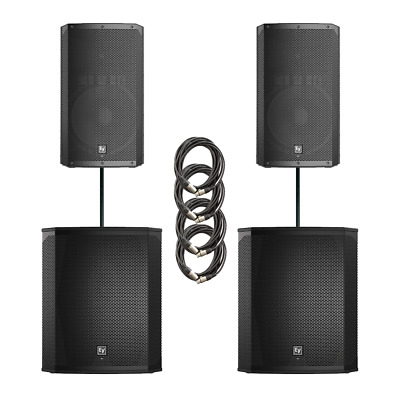 Electro-Voice ELX200 Dual 15P & 18SP Power Pack 4800W Active Sound System+Covers • 2,795£