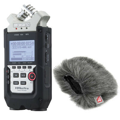 Zoom H4n PRO 4-Channel Handy Portable Recorder W/ Rycote 055438 Mini Windjammer • 171.84£