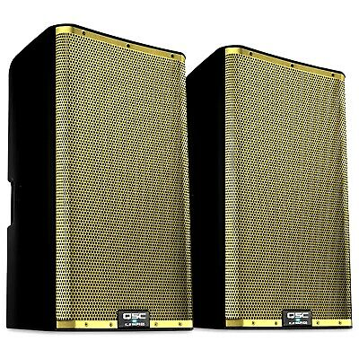 QSC K12.2 Gold Grill K.2 Series 12  2-Way 2000W Powered DJ PA Speaker K12 Pair • 1,157.73£