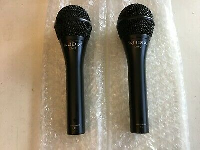 AUDIX OM2 Dynamic Cable Professional Microphone W Cable&Matching Impedance Jacks • 120.01£
