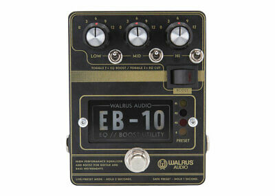 Walrus Audio EB-10 Preamp EQ Boost Matte Black • 172.25£