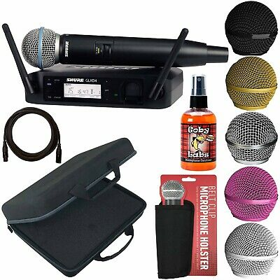 Shure GLXD24/BETA58A Handheld Vocal Stage Live Mic Digital Wireless System+Case • 411.02£