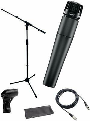 Shure SM57-LC Instrument/Vocal Cardioid Dynamic Microphone Bundle - USED • 93.66£