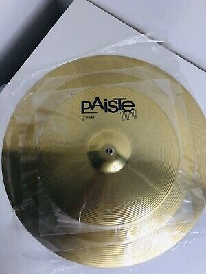 "Paiste 101 Brass Cymbal Set - 14"" Hi Hats, 18"" Crash And 20"" Ride BRAND NEW • 110£"