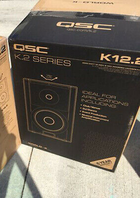 QSC K12.2 K.2 Series 12  2-Way 2000 Watt Powered Speaker Brand New ( Each) • 630.11£